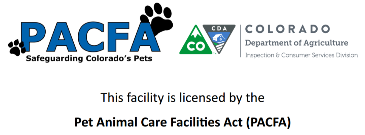 Our CO Pet Care License